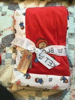 Trend Lab Paddington Bear Framed Red Velour Plush Receiving