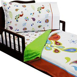 3pc RoomCraft Paisley Peacock Toddler Bedding Set Patterned