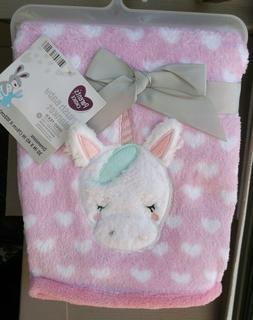 Parent's Choice Plush Baby Blanket Pink Unicorn Baby Girl 30
