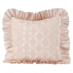Glenna Jean Paris Pillow - Velvet Coutout Overlay with Ruffl