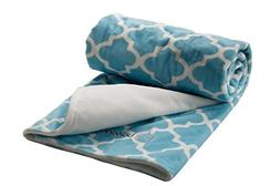 berlando- baby blanket, blue pastel, MOROCCAN PRINT- ultra s