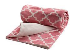 berlando- baby blanket, pink pastel, -MOROCCAN PRINT- ultra