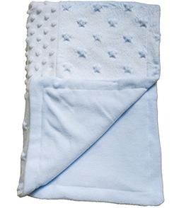 Kpblis Patchwork Blanket, Plush Baby Blanket Double Layer Fa