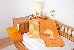 Baby Mink Pato Duck Sherpa Crib Blanket Throw with 'Juguemos