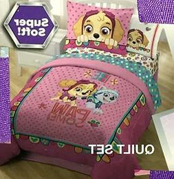 Paw Patrol Girls Twin/Full Quilt with Sham