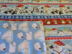 Penguin/Polar Bear/Snowman Double-sided Cotton/Flannel Baby/