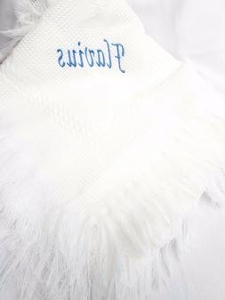personalised Baby shawl blanket wrap christening boy girl wh