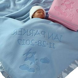 Personalized Airplane Baby Blanket Gifts - Large Custom Blan