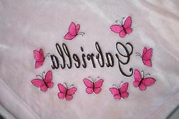 Personalized Baby Blanket Embroidered Tahoe Fleece Monogram