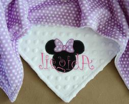 PERSONALIZED BABY BLANKET Minnie Mouse baby shower gift Cudd