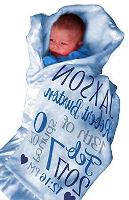 Personalized Baby Blankets for Boys  Custom With Baby's Name