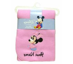 Personalized Disney Baby Minnie Mouse Pink Fleece Blanket Bl