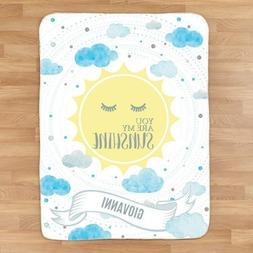 Personalized Baby Sherpa Blanket Add Any Name 10 Designs Big