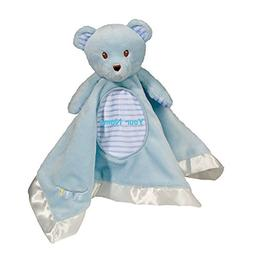 Personalized Douglas Blue Bear Snuggler Baby Blanket Blanky