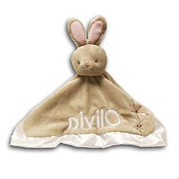 Personalized Bunny Rabbit Lil Snugglers Baby Snuggle Blanket