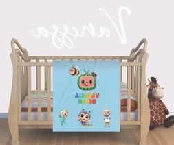 personalized cocomelon print baby blanket custom jj