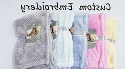 PERSONALIZED Custom Embroidered Minky Baby Blanket 30x40- Ba