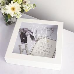 Personalized Best Day Ever Wedding Wishes Keepsake Shadow Bo