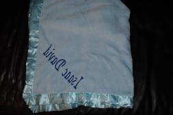 Custom Embroidered Monogrammed Baby Blanket Fleece Boy Blank