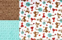 Personalized Minky Baby Blanket Deer/Stroller Blanket/Lovey/