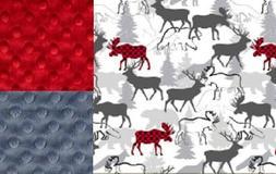 Personalized Minky Baby Blanket Woodland Deer/Stroller Blank