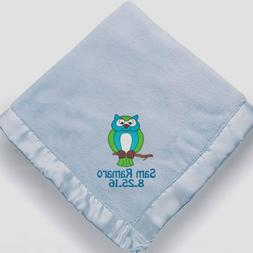 Personalized Monogrammed Baby Blanket for Boys ~ Embroidered