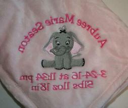 Personalized Monogrammed Baby Blanket Soft Tahoe Fleece Seve