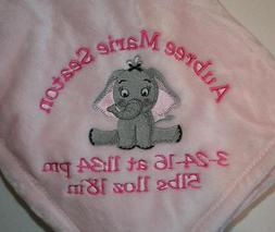 Personalized Monogrammed Baby Blanket Soft Tahoe Fleece Seve