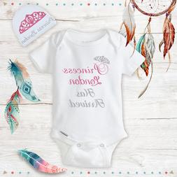 Personalized Princess Baby Girl Clothes Onesie, Hat Baby Sho