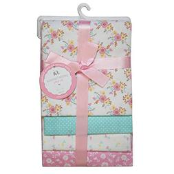 CRIBMATES Petite L'Amour Receiving Blankets Baby Girls Vinta