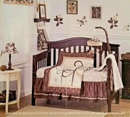 COCALO PEWTER Crib Bedding Mobile & Lamp Nursery Set Boy Gir