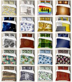 Ambesonne Pillow Shams Bedding Set Duvet Cover Set with Quee
