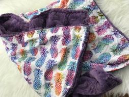 Pineapple Baby Blanket, Nursery Bedding, Throw Blanket, Cust