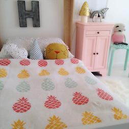 Pineapple Knitted <font><b>Blanket</b></font> Multicolour Pi