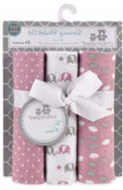 Cribmates Pink Baby Girl Receiving Blanket Set : Girl Newbor
