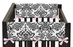 Sweet Jojo Designs Pink and Black Sophia Damask Teething Pro