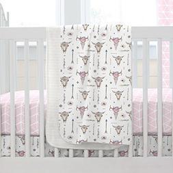 Carousel Designs Pink Boho Crib Blanket
