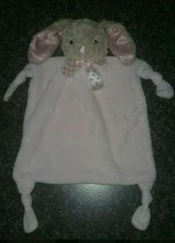 Dan Dee Pink Bunny Rabbit Security Blanket Rattle Knotted Lo