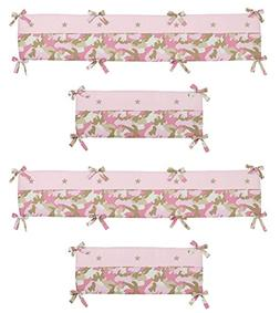 Pink Camo Collection Crib Bumper by Sweet Jojo Designs