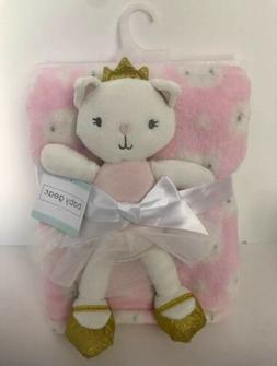 Baby Gear Pink Cat White Cat Blanket with Cat Ballerina Plus