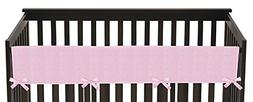 Sweet Jojo Designs Pink Chenille and Satin Long Front Rail G