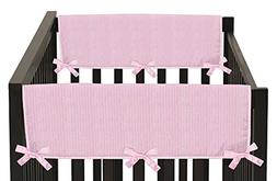 Sweet Jojo Designs Pink Chenille and Satin Teething Protecto