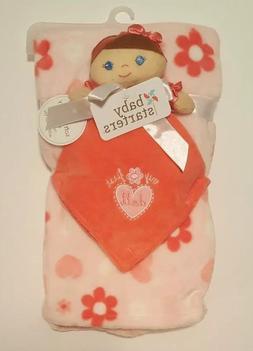 Baby Starters Pink Doll Snuggle Buddy / Stroller Blanket Set