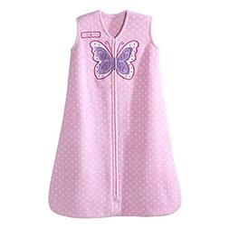 Halo Pink Dot Butterfly SleepSack Wearable Baby Blanket, Mic