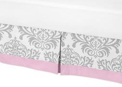 Sweet Jojo Designs Pink, Gray and White Elizabeth Bed Skirt