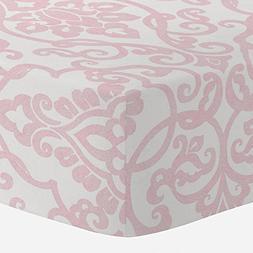 Carousel Designs Pink Filigree Crib Sheet - Organic 100% Cot