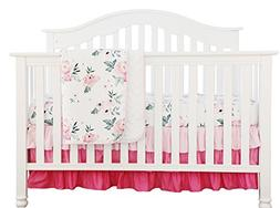 Pink Floral Ruffle Baby Minky Blanket Water color, Pink Flor