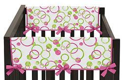 Sweet Jojo Designs Pink and Green Polka Dot Mod Circles Teet