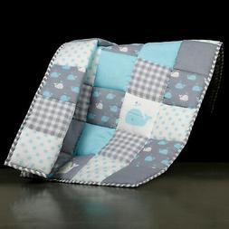 Pink Soft Baby Quilt for New Born Girls and Boys - Crib Baby