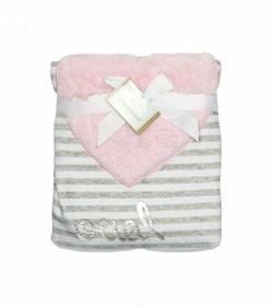 Koala Baby Pink Heart Love Gray Grey White Striped Baby Blan